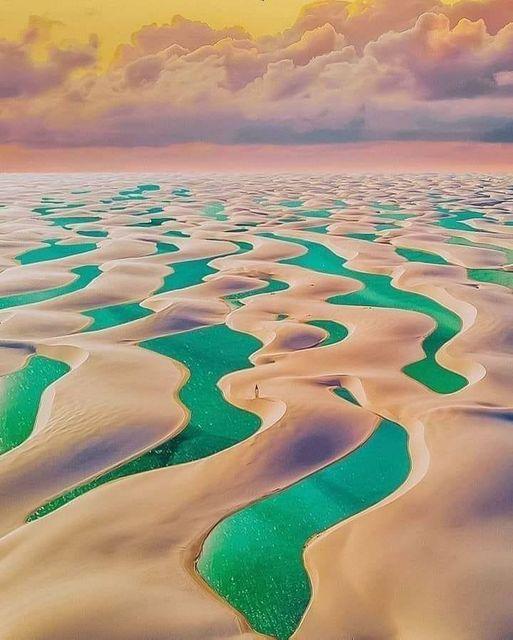 Emerald sand dunes, Brazil.... 1