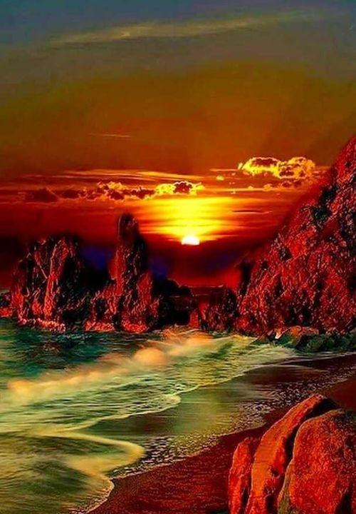 Όμορφο ηλιοβασίλεμα Καληνύχτα με... 1