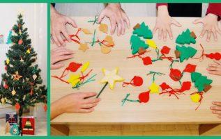 Δημιουργώντας Χριστουγεννιάτικα στολίδια μαζί με τα παιδιά μας.