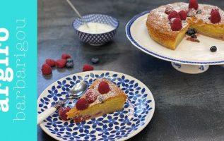 Κέικ Αμυγδάλου με κόκκινα φρούτα της Αργυρώς   Αργυρώ Μπαρμπαρίγου