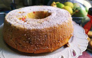 Κέικ Βανίλια, πορτοκάλι της Γκολφως,Νηστίσιμο με φρούτα και ξηρούς καρπούς