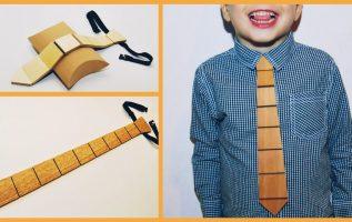 Ξύλινη γραβάτα. Τα στάδια της κατασκευής της από Empnoia.