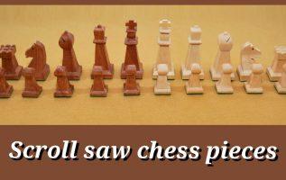 Πιόνια για σκάκι κομμένα με επιτραπέζια σέγα. Τα στάδια της δημιουργίας τους από Empnoia