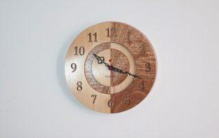 Ρολόι τοίχου από niangon και φλαμούρι by Empnoia. Βήμα βήμα κατασκευή του.