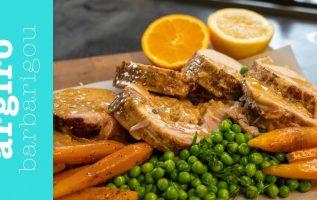 Ρολό κοτόπουλο κατσαρόλας με σάλτσα μουστάρδας της Αργυρώς | Αργυρώ Μπαρμπαρίγου