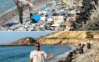 Ολοκληρωτική μεταμόρφωση παραλίας στην Κύπρο από έναν και μόνο άνθρωπο. Η ακτή μ... 3