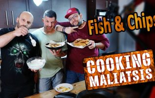 Cooking Maliatsis - 134 - Fish & Chips ft. Εισβολέας