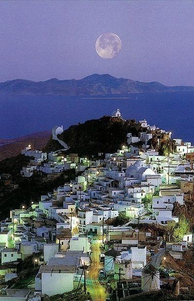 Full moon over Serifos island #Greece !!.... 1