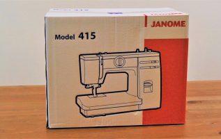 JANOME 415.   Unboxing, χρήση και συντήρηση οικιακής ραπτομηχανής.