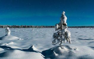 Light glow of the polar lights. Lapland.... 2