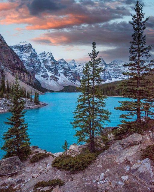 Moraine Lake is a glacially fed lake in Banff National Park, 14 kilometres (8.7 ... 1