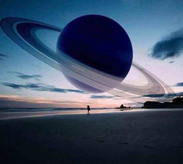Έτσι θα βλέπαμε τον Κρόνο,αν ήταν στη θέση της Σεληνης... 1
