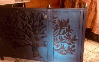 ΚΑΤΑΣΚΕΥΗ ΠΟΡΤΑΚΙ ΜΕ PLASMA CUT 50/ backyard door with plasma cut
