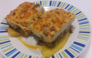Συνταγή για παραδοσιακό Μουσακά με πατάτες, κολοκυθάκια και μελιτζάνες... 4