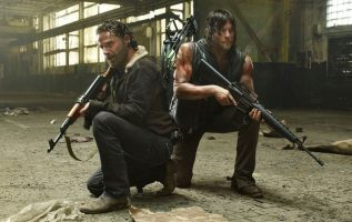 Andrew Lincoln and Norman Reedus. Rick and Daryl on The Walking Dead.... 2