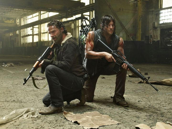 Andrew Lincoln and Norman Reedus. Rick and Daryl on The Walking Dead.... 1