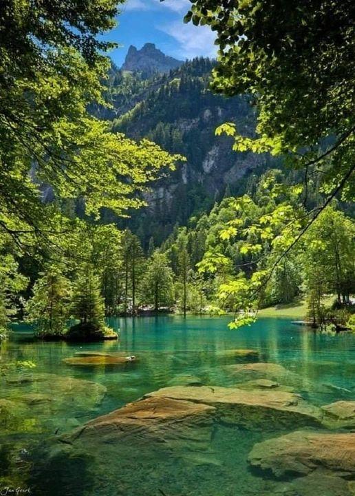 Blue Lake Kandersteg, Switzerland... 1