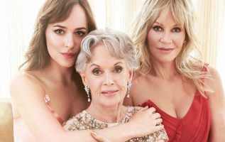 Dakota Johnson with her grandmother Tippi Hedren and mother Melanie Griffith.... 5