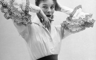 French Model Bettina Graziani (May 8, 1925 - March 2, 2015) wearing the Bettina ... 4
