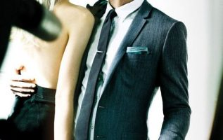 Michael Fassbender and model Alys Hale photographed by Mario Testino... 4