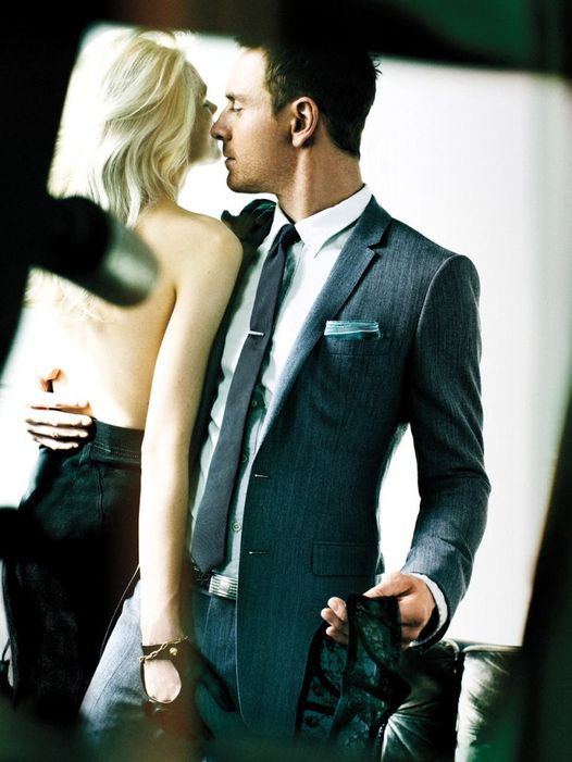Michael Fassbender and model Alys Hale photographed by Mario Testino... 1