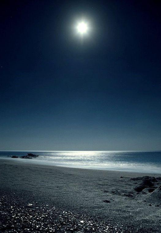 Moonlight....Crete island Triopetra Greece !!... 1