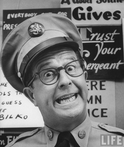 Phil Silvers (May 11, 1911 - November 1, 1985). Sergeant Bilko.... 1