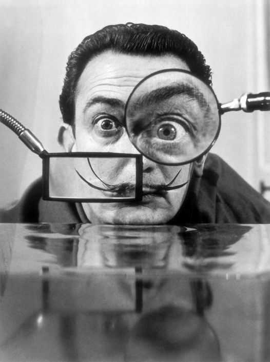 Salvador Dalí (May 11, 1904 - January 23, 1989) photographed by Willy Rizzo.... 1