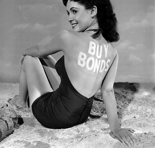 Susan Cabot photographed by Ed Clark. Encouraging you to support the war effort.... 1