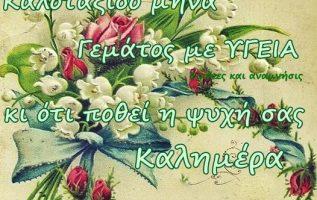 Καλημέραααααααααα ,, Ομορφο μήνα, με υγεία κ πολλές χαρές !!... 2