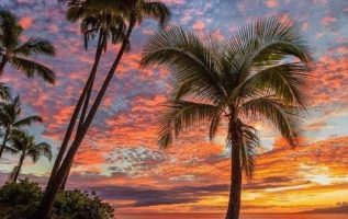 Beautiful sunset on Maui, which is an island in the Central Pacific that forms p... 4