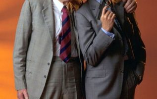 Desmond Llewelyn and Pierce Brosnan.... 2