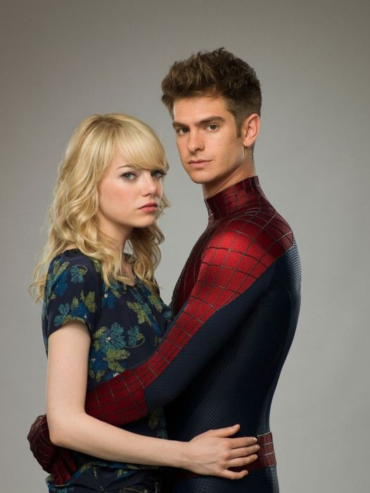 Emma Stone and Andrew Garfield. Gwen Stacy and Peter Parker.... 1