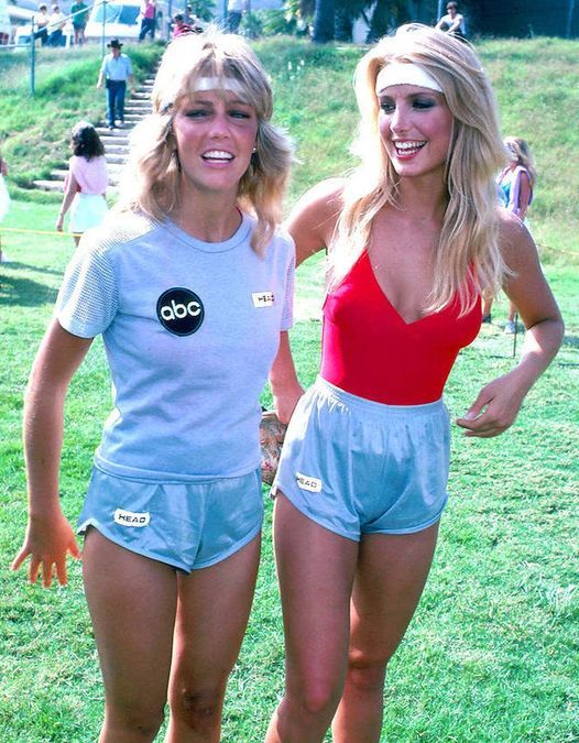 Heather Locklear and Heather Thomas on Battle of The Network Stars.... 1
