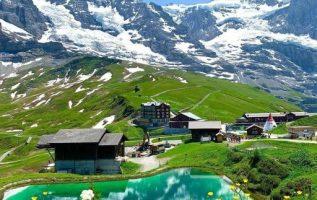 Kleine Scheidegg is a pass in Switzerland between the Eiger and the Lauberhorn i... 6