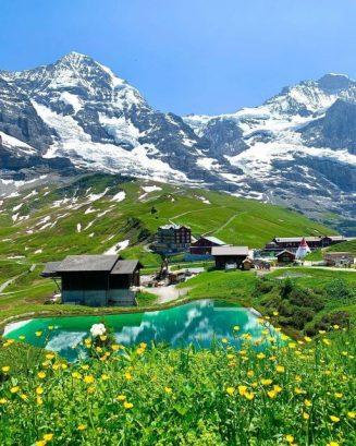 Kleine Scheidegg is a pass in Switzerland between the Eiger and the Lauberhorn i... 3