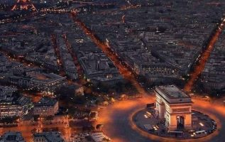 The sunset in Paris, France... 7