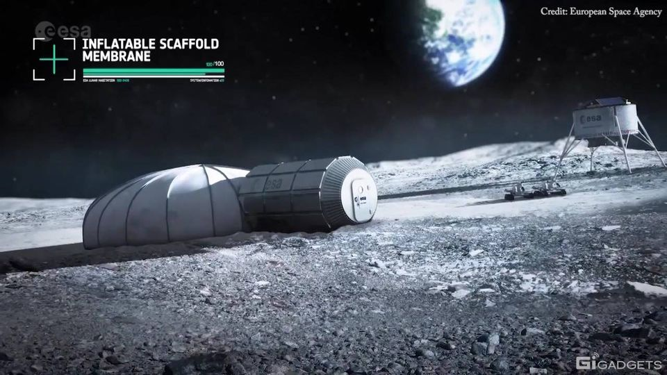 Villages on the Moon built by huge 3D printers and inhabited for months at a ti... 1