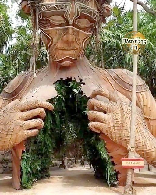 Η είσοδος ξενοδοχείου ''παραλία ζούγκλας'' στο Tulum, στο Μεξικό.... 1