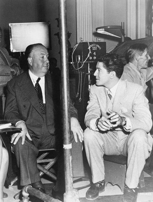 Alfred Hitchcock (August 13, 1899 - April 29, 1980) and Farley Granger (July 1, ... 1