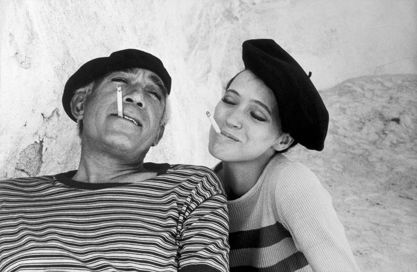 Anthony Quinn and Anna Karina photographed by Eve Arnold.... 1
