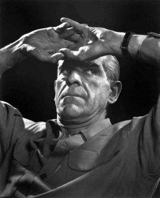 Boris Karloff photographed by Yousuf Karsh....