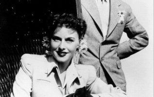 Charlie Chaplin and Paulette Goddard....