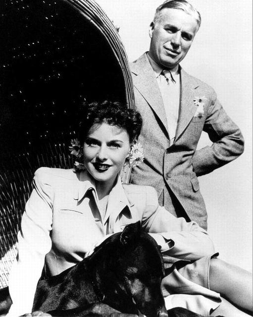 Charlie Chaplin and Paulette Goddard.... 1