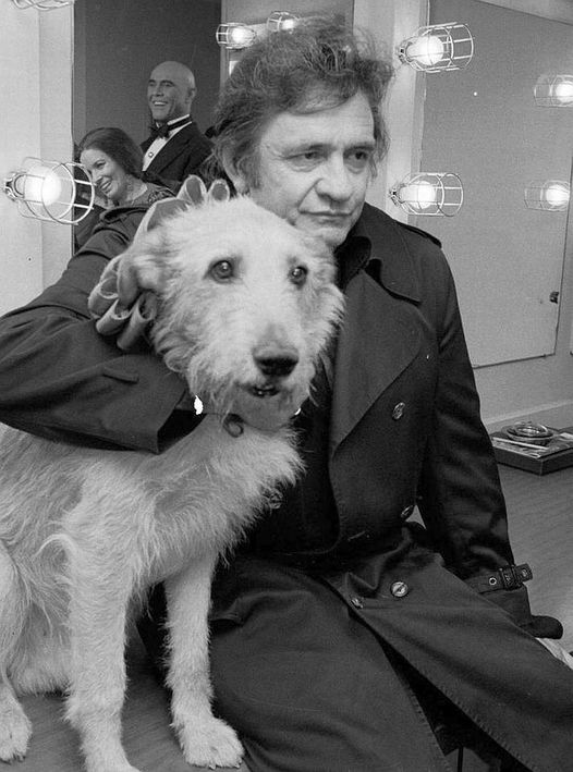 Johnny and June backstage at Annie with Sandy the dog.... 1