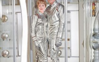 June Lockhart and Guy Williams.  Lost in Space....