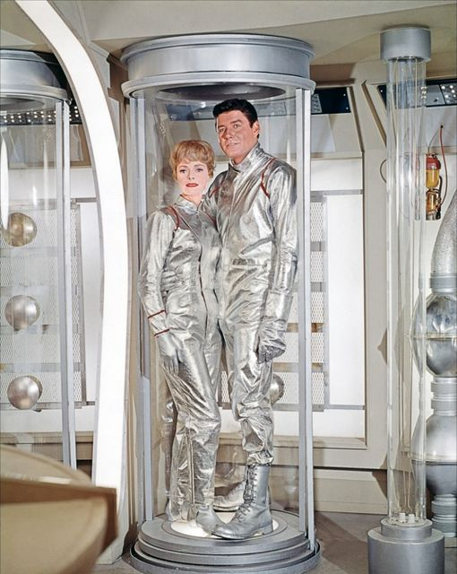 June Lockhart and Guy Williams. Lost in Space.... 1