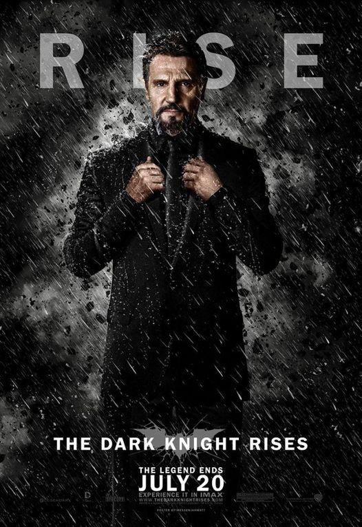 The Dark Knight Rises (2012) Movie Poster with Liam Neeson as Ras Al Gul.... 1