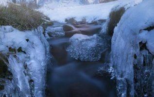 A cold morning below Mt. Fitz Roy, Argentina...