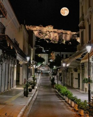 Goodnight from under the Acropolis  !!...